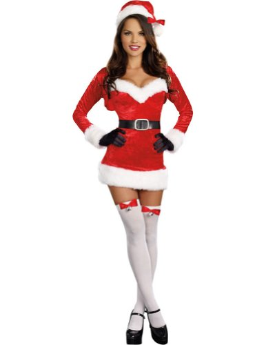 Adult- Christmas Costume Santa Baby Womens Christmas Costume Lg