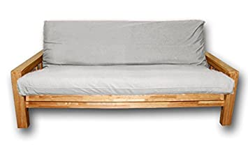 Sofá cama Bifold, funda cruda, 200x140x30 cm