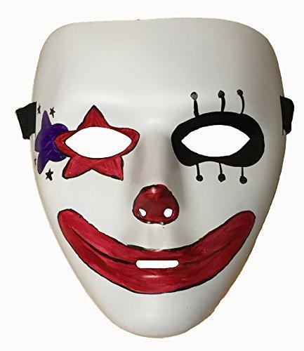 【world-surprise】 ピエロ/道化師 マスク/仮面/お面 光る腕輪付き 大道芸 ハロウィン [数量限定] G-18 (ピエロ)