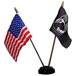 Flag Stand for 2 Flags Black