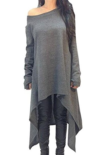 hqclothingbox-vestido-casual-para-mujer-gris-gris-xx-large