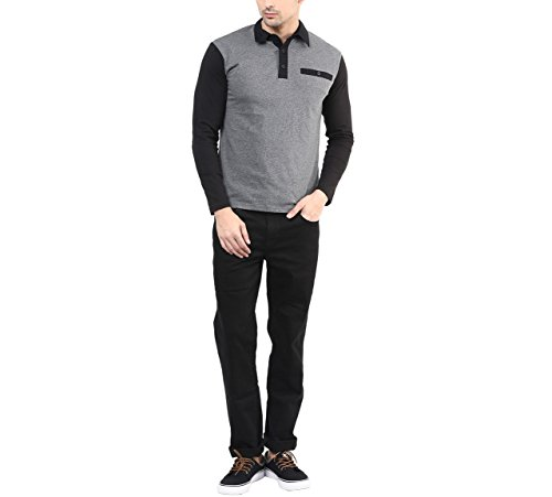 Hypernation-Dark-Grey-Color-Casual-T-Shirt-for-Men