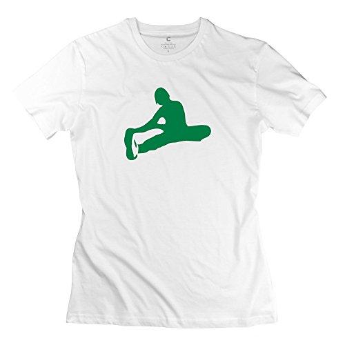 Zhitian Women'S Stretch Girl T-Shirt - Xs White