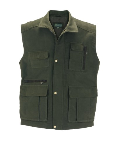 204M : Moleskin Gilet Style Green, Large