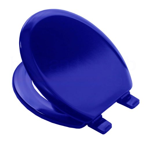 Bemis-5000-MARINE-BLUE-Coloured-Moulded-Wood-Toilet-Seat-and-Cover-with-Adjustable-Plastic-Hinges