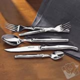 Jean Dubost Laguiole 5-Piece Flatware Set - Stainless Steel