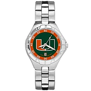 NSNSW22798Q-University of Miami Watch - Ladies Pro Ii Sport by NCAA Officially Licensed