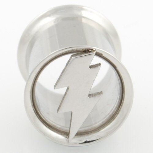"One Stainless Steel Double Flared Lightning Bolt Eyelet: 1/2""G 3/8"" (Sold Individually. Order Two For A Pair.)"