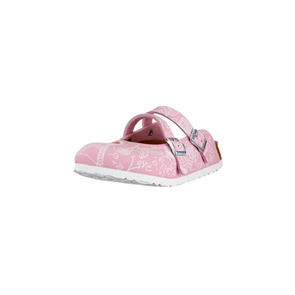 made of Birko Flor in Valentines Day Pink with a narrow insole Shoes
