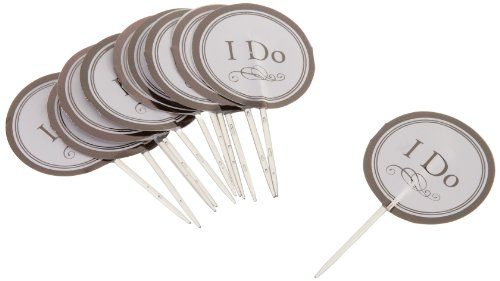 Wilton 2113-0332 Wedding I Do Fun Pix, 12 Count- Discontinued By Manufacturer (Bridal Shower Cupcake Toppers compare prices)