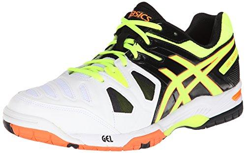 ASICS Men's Gel-Game 5 Tennis Shoe,Onyx/Flash Yellow/Flash Orange,11 M US