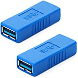 HDE USB 3.0 Type-A Female to Female SuperSpeed Coupler Connector - 2 Pack