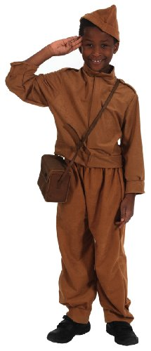 1940s Home Guard Fancy Dress Costume Age 6-9 (1940 Fancy Dress Costumes)