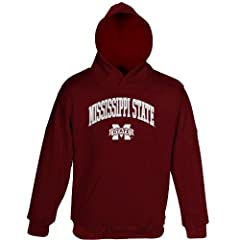 Buy Mississippi State Bulldogs 2011 NCAA Team Color Embroidered Hooded Sweatshirt by Genuine Stuff