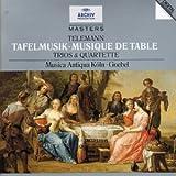 """echange, troc Reinhardt Goebel, Musica Antiqua Köln, Musica Antiqua de Cologne, Reinhard Goebel (direction) - Tafelmusik - Trios & quatuors de """"Musique de table"""""""