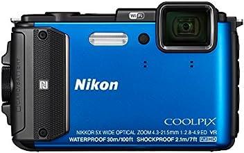 """Nikon Coolpix AW130 Appareil photo numérique compact 16 Mpix Écran LCD 3"""" Zoom optique 5X Bleu"""