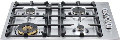 Bertazzoni Professional Series Qb30400X 30 Gas Cooktop 4 Sealed Burners, 18,000 Btu Brass Burner