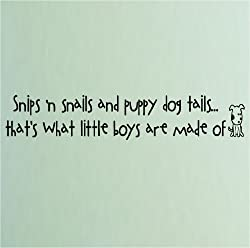 snips and snails boy definition wall decal quote