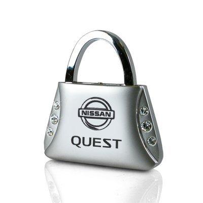 nissan-quest-clear-crystals-purse-shape-key-chain