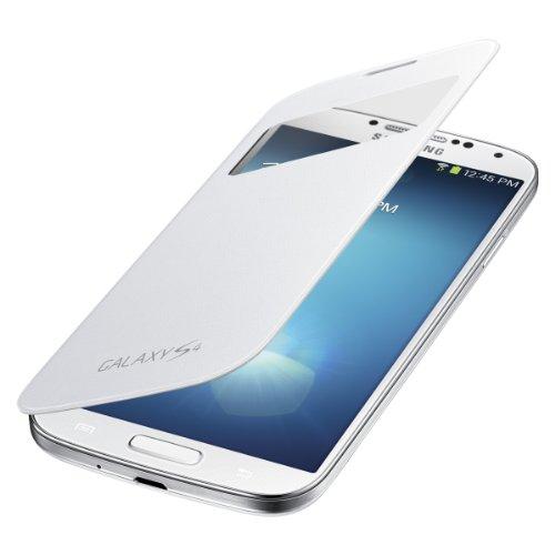 *Protector* Samsung Galaxy S4 S-View Flip Cover Folio Case (White)