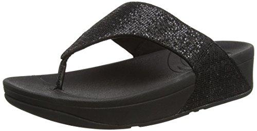 FitFlop Lulu Superglitz, Sandali Donna, colore nero (nero), taglia 40