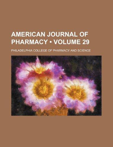 American journal of pharmacy (Volume 29)