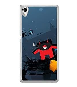 Cartoon 2D Hard Polycarbonate Designer Back Case Cover for Sony Xperia Z3+ :: Sony Xperia Z3 Plus :: Sony Xperia Z3+ dual :: Sony Xperia Z3 Plus E6533 E6553 :: Sony Xperia Z4