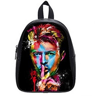 LilyFavor David Bowie Printing Backpack Custom High School Students Backpack For Travel Or Party (Large)