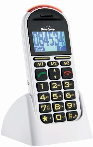 Binatone Big Button Speakeasy 200 Mobile Sim Free Phone with Talking Numbers and Panic Button