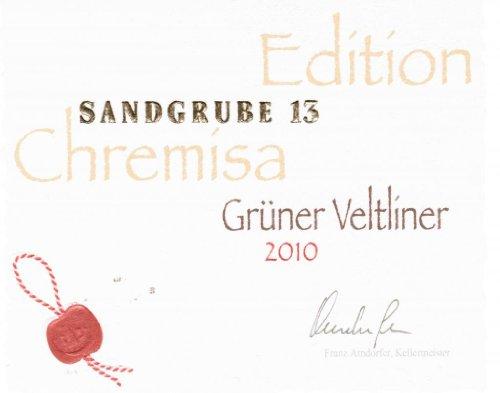 2010 Winzer Krems Chremisa Sandgrube 13 Grüner Veltliner 750 Ml