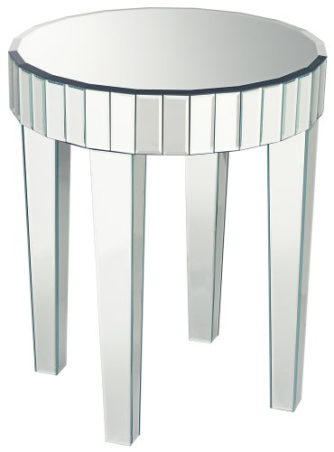 Image of Candice Mirrored Round End Table (KFC211A)