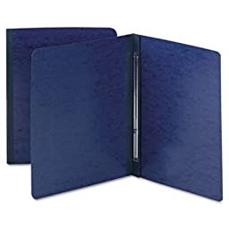 SMEAD MANUFACTURING CO. 81351 Side Opening Pressboard Report Cover Prong Fastener Letter Dark Blue 25/box