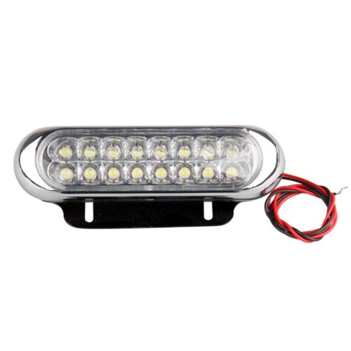 2 Car Truck Universal Day Fog Aux Driving Drl 16 Led Light Lamp White
