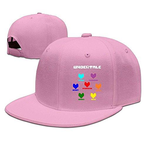cedaei-undertale-corazones-coloridos-alma-flat-bill-gorra-ajustable-viajes-caps-sombreros-negro
