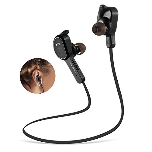 Wireless Bluetooth Headphones Sport Earphones ,MengK Bluetooth 4.1 In-ear Stereo Earbuds with Mic, Sweatproof, Noise Cancelling, Echo Cancellation,Voice Reminder,Secure Fit for Running Fitness