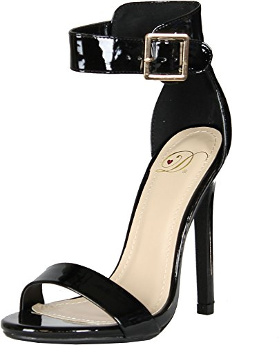 Delicious Women's Canter Single Sole Ankle Strap High Heels
