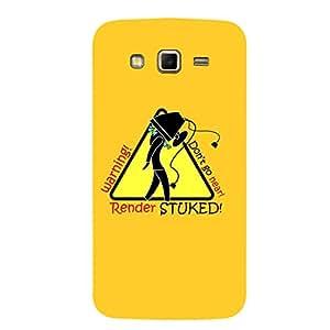 Samsung Grand 2 Don't Go Near Dark Yellow Mobile Cover
