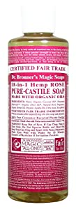 Castile Liquid Soap Organic-Rose 8 Ounces