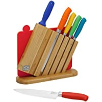9-Piece Chicago Cutlery Knife Set with Sharpener & Cutting Boards