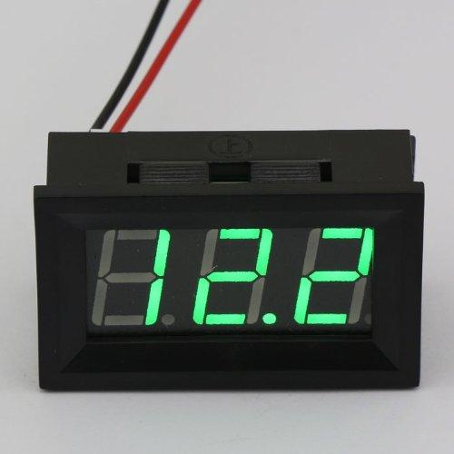 "Drok 2-Wires 0.56"" 4.5-150V Digital Display Dc Volt Meter Automotive Car Volt..."