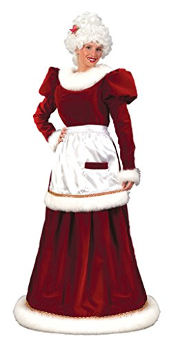 Funworld Womens Mrs Santa Claus Lady Velvet Christmas Holiday Fancy Costume