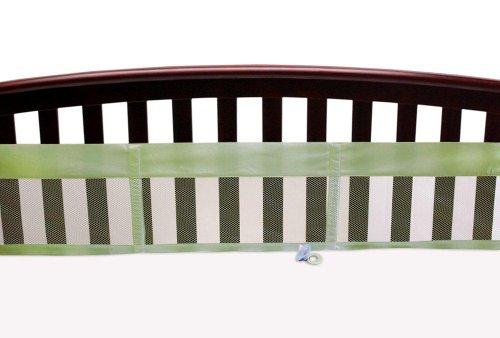 Nojo Secure Me Solid Mesh Crib Liner, Sage front-1012853