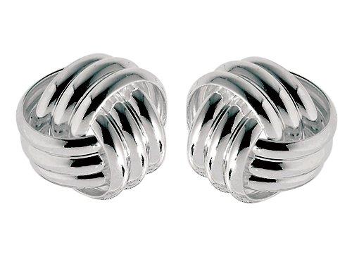 Sterling Silver Love Knot Earrings 11mm LIFETIME WARRANTY