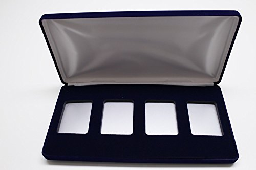VELVET DISPLAY CASE FOR 4 NGC COIN SLABS (4 Coin Display Box compare prices)