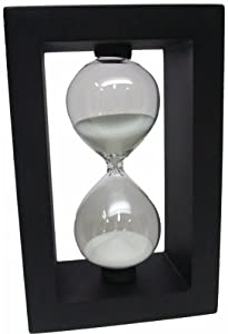Desktop Distractions 6 Inch Hour Glass Timer in Black 5-minutes by Desktop Distractions