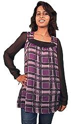 Miraaya Women's Top (M2308B_5415, Purple, S)
