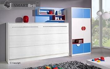 Popular Schrankbett SMARTBett horizontal Klappbett Wandbett Gästebett PZ48