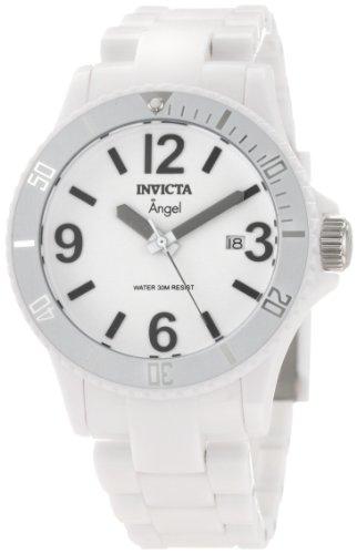 Invicta Women's 1207 Angel White Dial White Plastic Watch