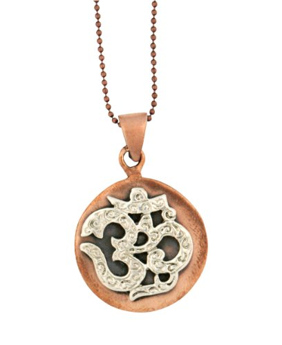 Sterling Silver and Copper Om Pendant