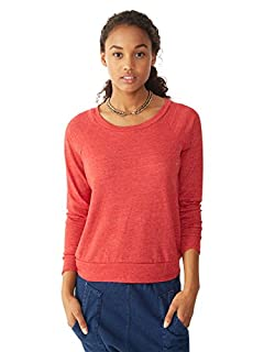Alternative Women's Slouchy Pullover, Eco True Red, Small